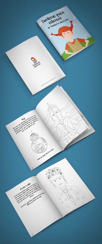 mockup libro colorear feminista ilustrada